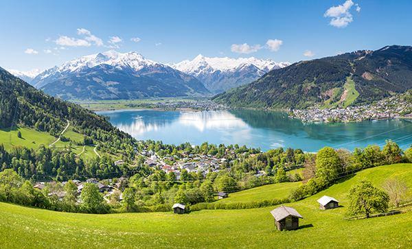 Bild mit Landschaft von Österreich