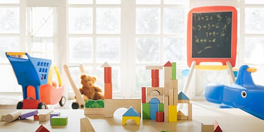 Spielzimmer für Kinder in einem Hotel