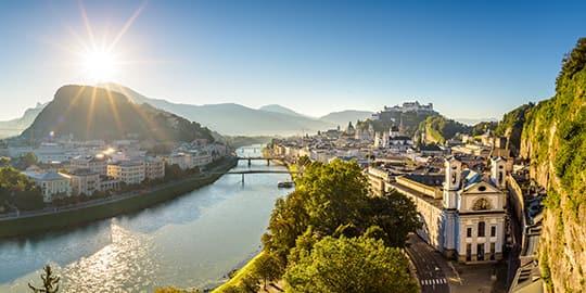 Salzburg aus der Ferne