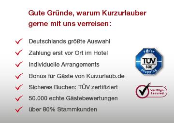 Teaser Gute Gründe um mit Kurzurlaub.de zu buchen