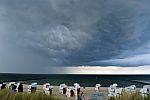 Unwetter über der Ostsee
