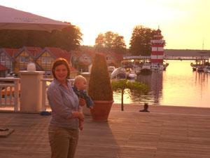 Terrasse am Hafen