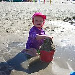 spielen am Strand